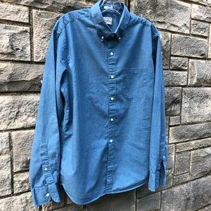 J Crew Slim Cotton Button Front Shirt